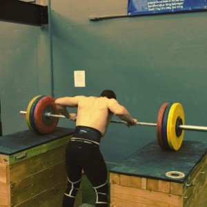 PR Jerk from blocks @ 145kg